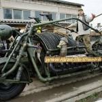 Мотоцикл с двигателем от советского танка признали самым тяжёлым в мире