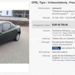 17-летний Opel Tigra хотят купить за 55 750 евро