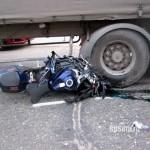 спортивный мотоцикл авария